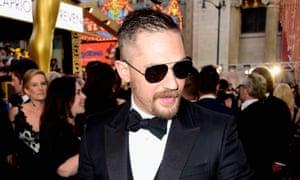 A tuxed-up Tom Hardy at the Oscars.