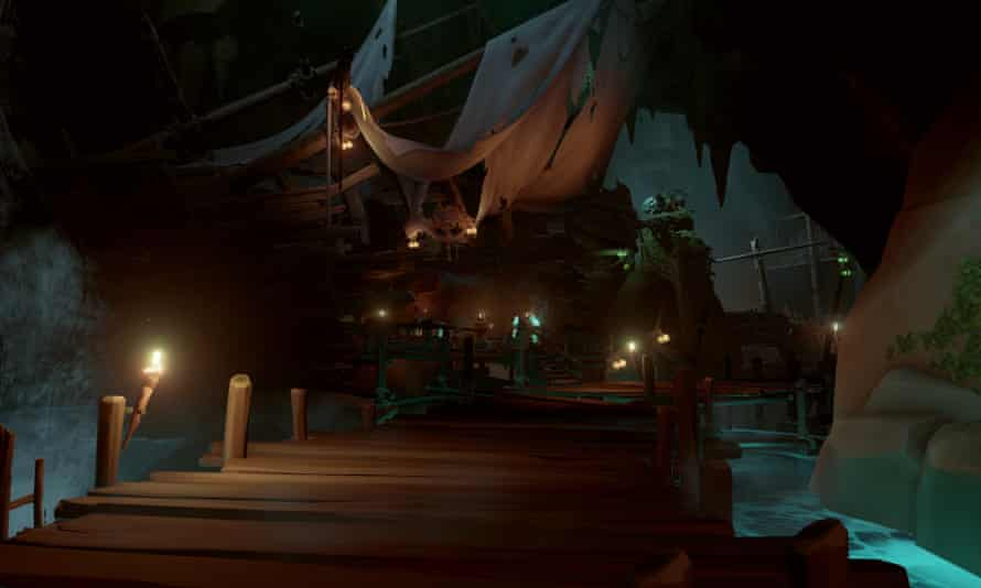 The exclusive Pirate Legends hideaway, built in the side of a wrecked ship and accessible only to the most experienced buccaneers.