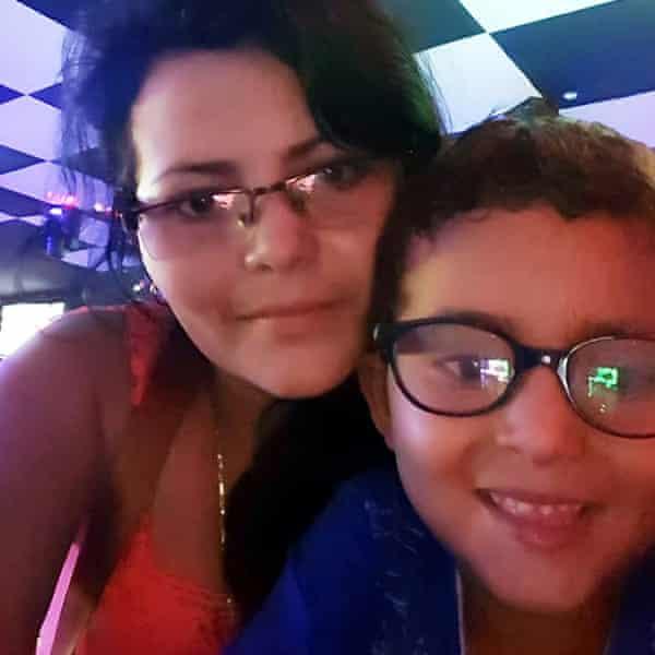 Yolany Padilla and her son Jelsin, six.