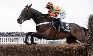 Might Bite was steered through a successful pre-Cheltenham schooling session by Nico de Boinville.