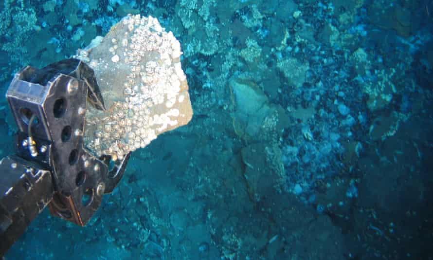 Deep sea mining off the Papua New Guinea coast.