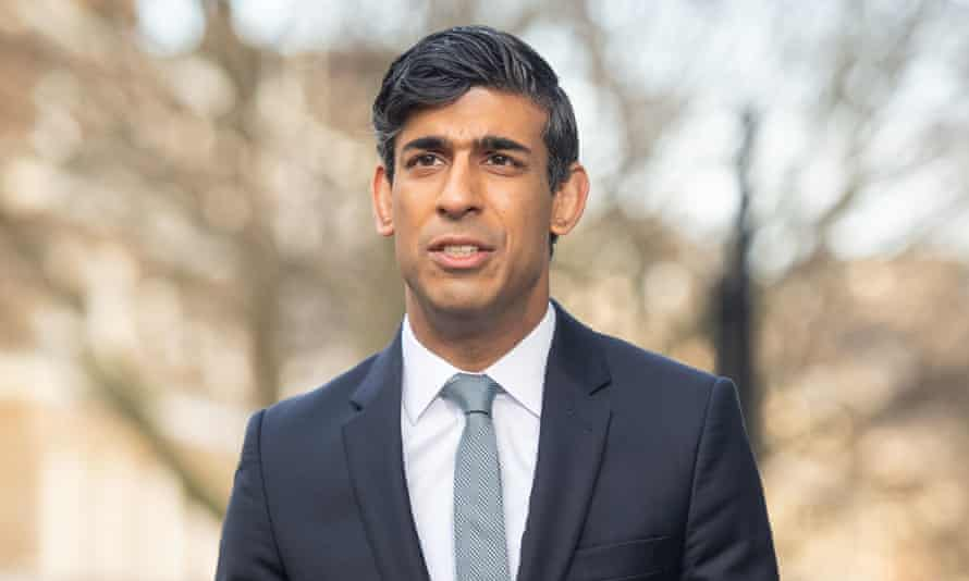 Rishi Sunak is interviewed via videolink for Sky News' Sophy Ridge on Sunday in central London