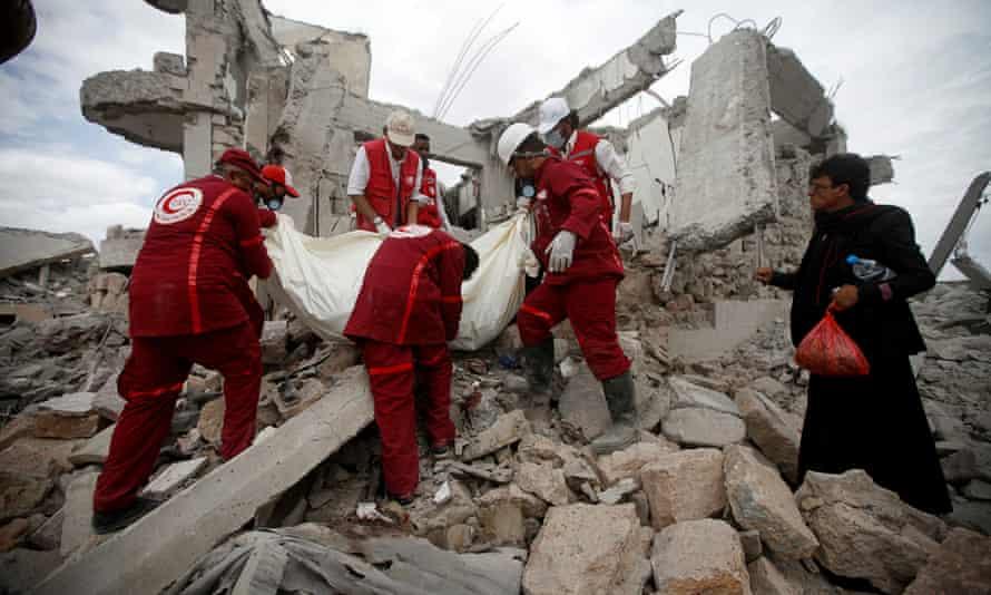 Red Crescent medics in Dhamar, Yemen.