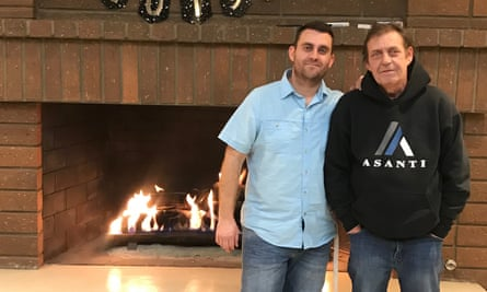 This photo provided by Erwin Hauprich shows Erwin Hauprich and his father Helmuth Hauprich, right, who was killed in Thursday's attacks.