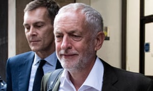 Jeremy Corbyn (right) and Seumas Milne.