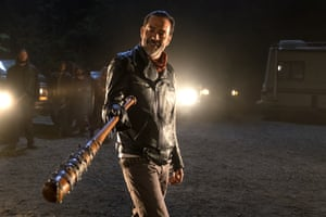Oh, Lucille! Jeffrey Dean Morgan as Negan in The Walking Dead.