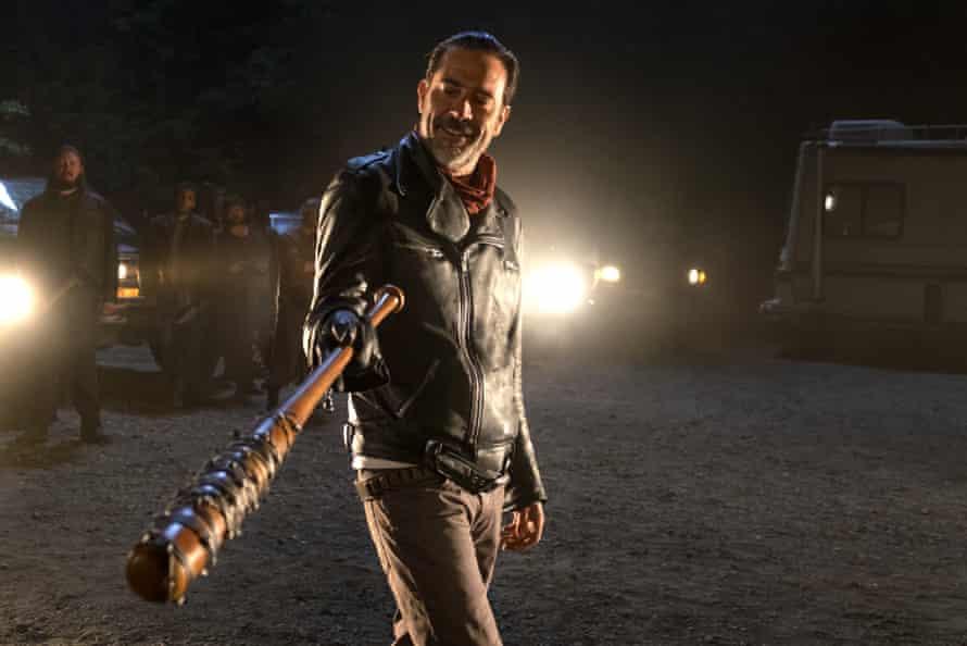 Oh, Lucille! Jeffrey Dean Morgan as Negan in The Walking Dead.