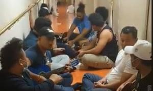 Some of the Samoan seafarers who are awaiting return.