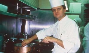 'You don't need expensive ingredients to create a great cuisine': Joël Robuchon in the kitchen in 1986.