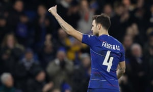 Cesc Fàbregas makes his emotional exit at Stamford Bridge. The midfielder is expected to join Monaco in the coming days.