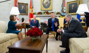 Trump and Democrats publicly disagree on border security during a meeting at the White House last week.