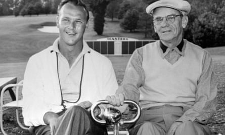 Roberts with Arnold Palmer, four times the Masters champion