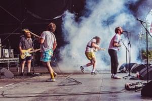 Bristolian punks Idles on the main stage