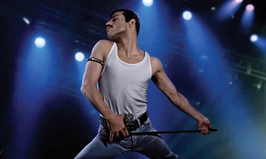 No interest in ambiguity … Rami Malek as Freddie Mercury in Bohemian Rhapsody.