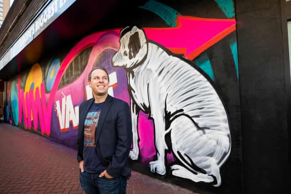 HMV owner Doug Putman outside the HMV Vault in Birmingham.
