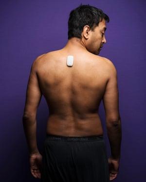 Rhik Samadder with Upright Go on his back