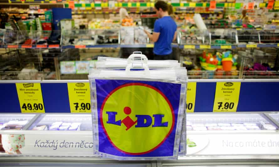 A Lidl discount supermarket store in the Czech Republic.