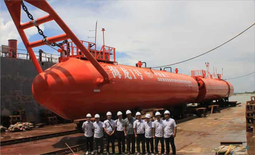 Chinese wave-power device that is similar to the Scottish Pelamis wave device