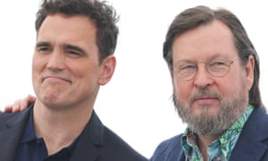 Matt Dillon and director Lars von Trier attend a Cannes photocall for The House That Jack Built, which has been greeted with controversy at the festival.