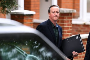 David Cameron leaves his house ahead of his appearance at two select committee hearings