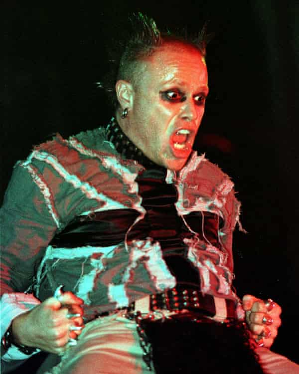 Keith Flint of the Prodigy on stage in Glasgow.