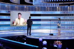 Dan Levy accepts the best TV series – musical or comedy award for Schitt's Creek