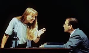 Lia Williams and David Suchet in Oleanna at the Royal Court in 2004.
