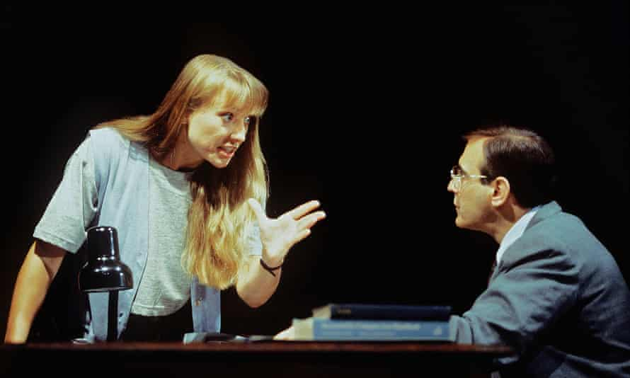 Radioactively brilliant … the 1993 Royal Court production of Oleanna, with Lia Williams and David Suchet.
