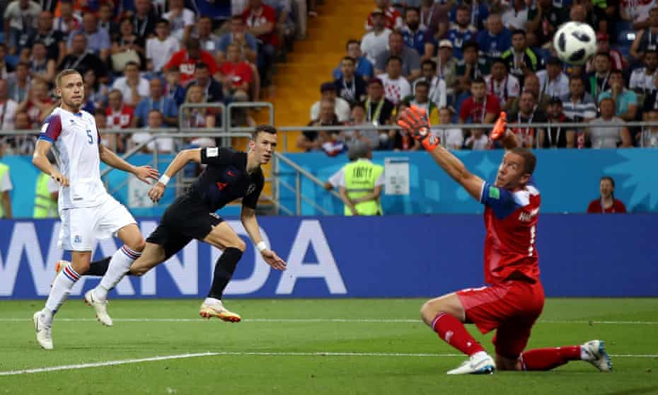 Ivan Perisic strikes in the last minute for Croatia to seal Iceland's World Cup exit.