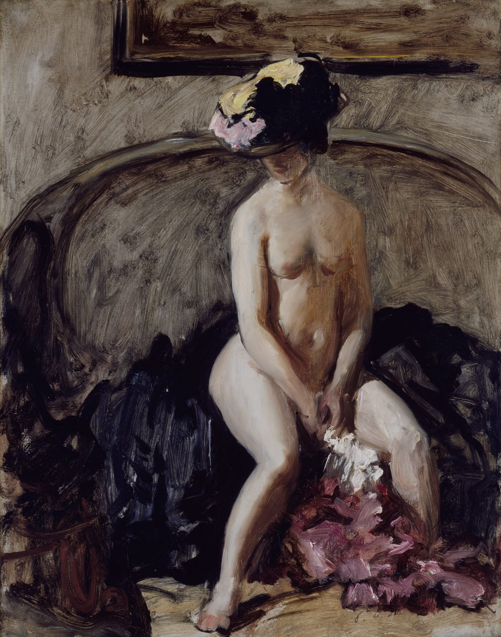 Philip Wilson Steer 'Seated nude: the black hat'