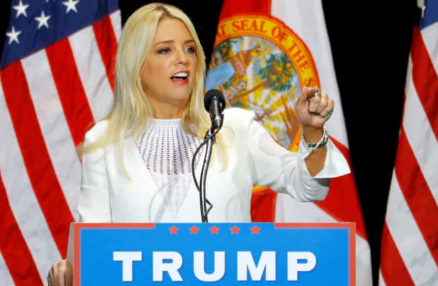 Florida attorney general and Trump ally Pam Bondi, who Sheehan says has helped to create a climate of hatred.