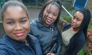Jeanette Valentin and her daughters Taniella and Nesta, who were threatened with deportation by the Home Office.