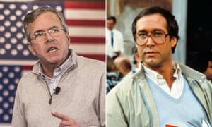 Jeb Bush and Chevy Chase in European Vacation