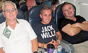 Charles Evans, left, Joel Richards, centre, and Adrian Evans.