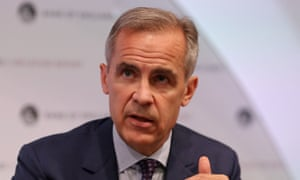 Investors in the City of London have responded favourably to the idea of Mark Carney staying on as governor of Bank of England.