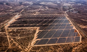 A large solar plant at Broken Hill. Similar schemes in Queensland could create more jobs than Adani's controversial planned Carmichael coalmine, the ACF says.