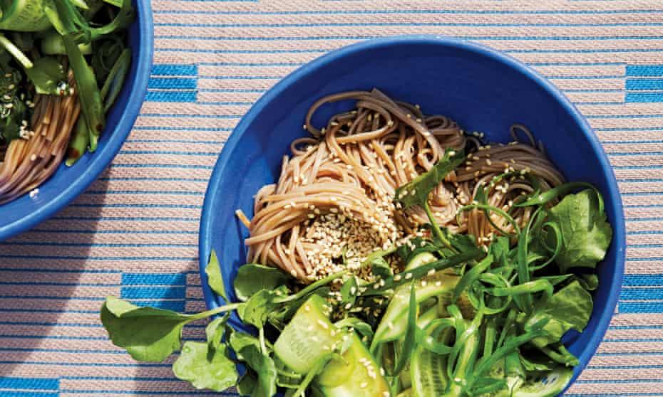 Cold soba with cucumber, watercress and sesame by Alison Roman
