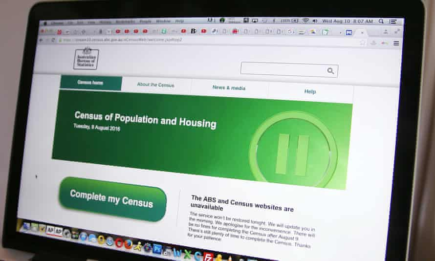 The 2016 census website