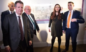 Chris Leslie with other former Labour MPs
