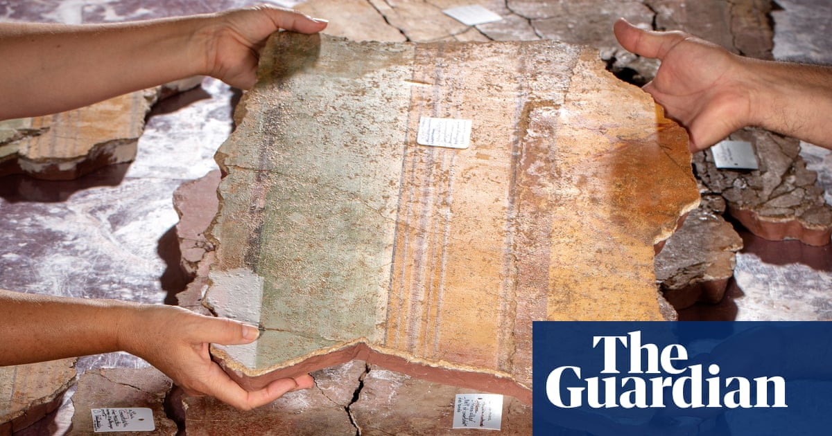 'It's exactly like a puzzle': experts on piecing together Roman fresco find