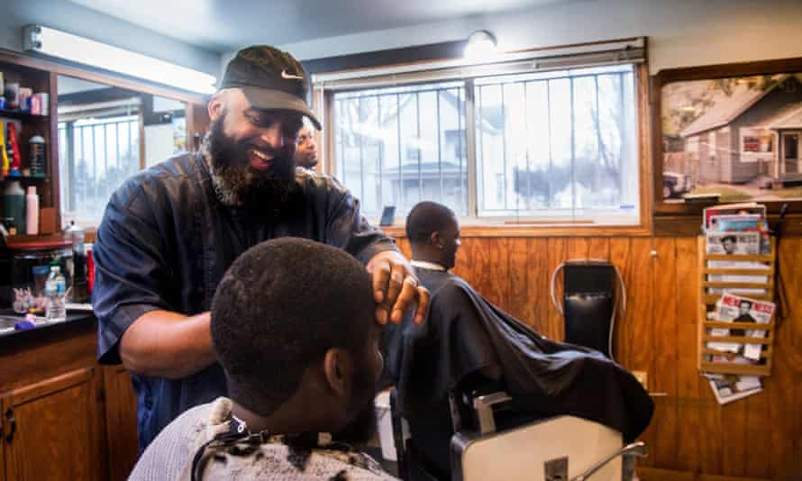 """Steve Winters has operated Winters' Barber Shop for 25 years. """"It's a good way to earn a living. It's a friendly place to be,"""" Winters says. The barber shop was featured in the Journal Star's South Side Gems special section in February."""