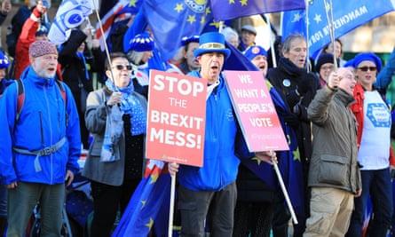 Anti-Brexit protest, London, 19 November 2018