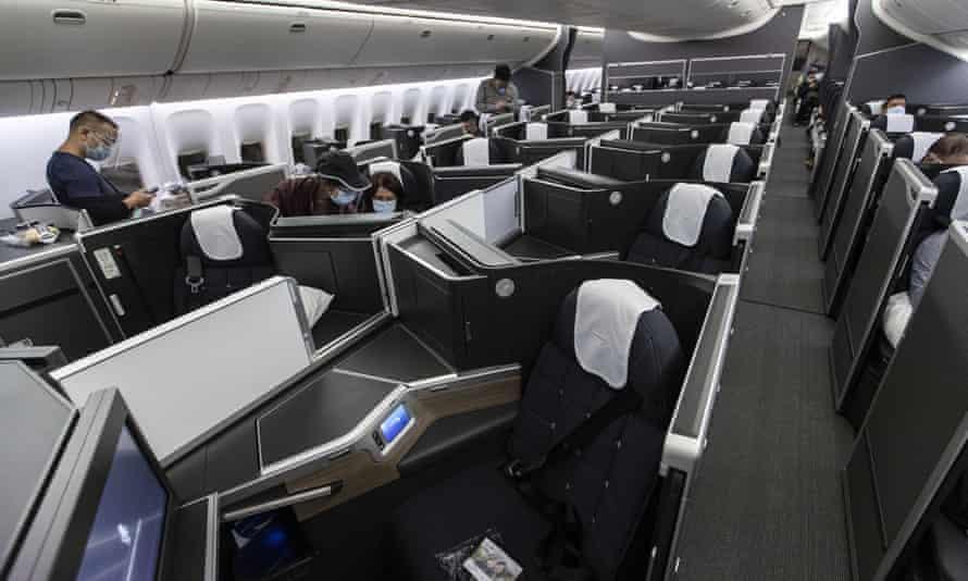 BA business class cabin