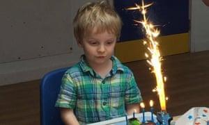Arthur aged four