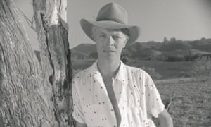 David Bowie in Australia during the shoot for his music video, Let's Dance.