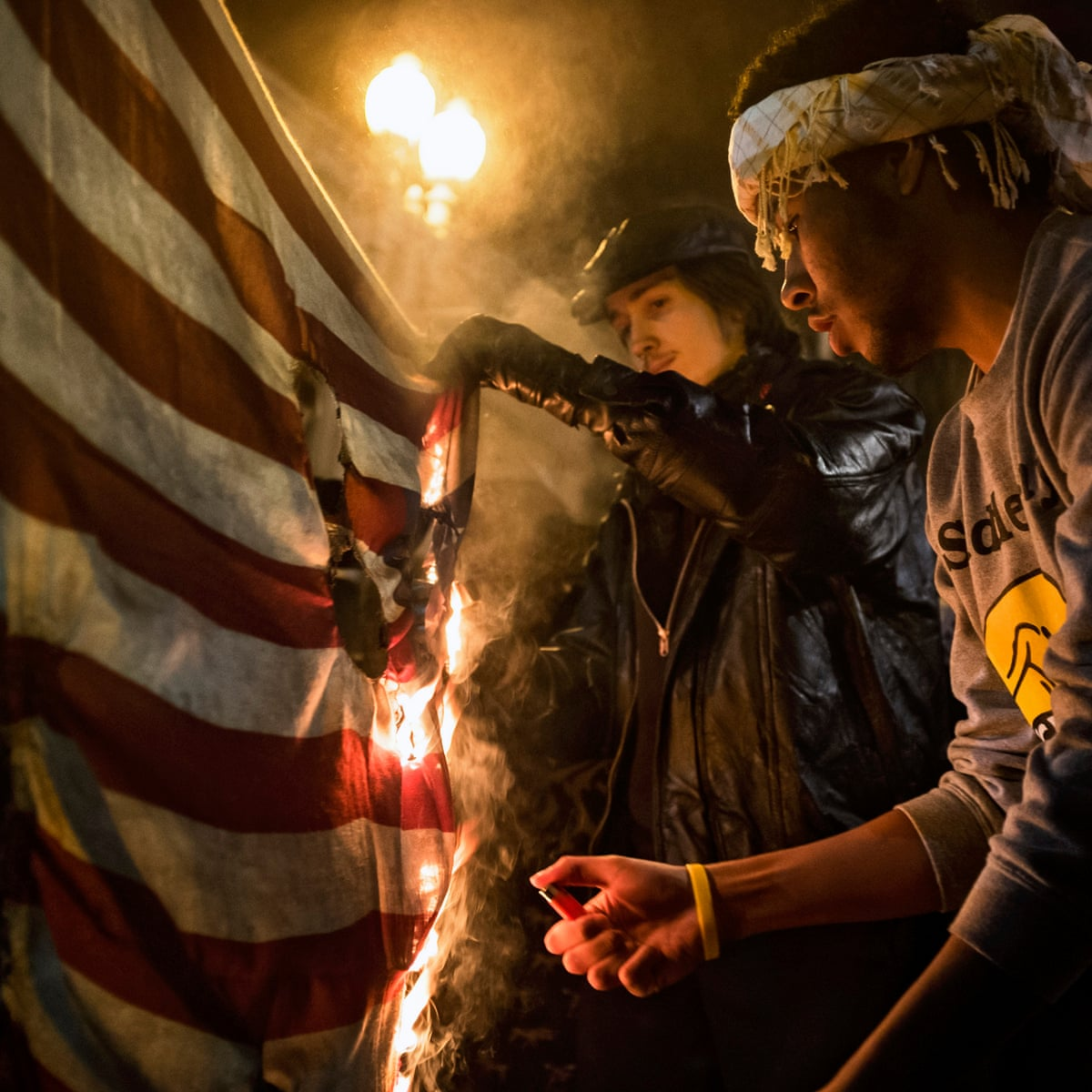 Blaze Of Glory The Grand Tradition Of Burning The American Flag Protest The Guardian