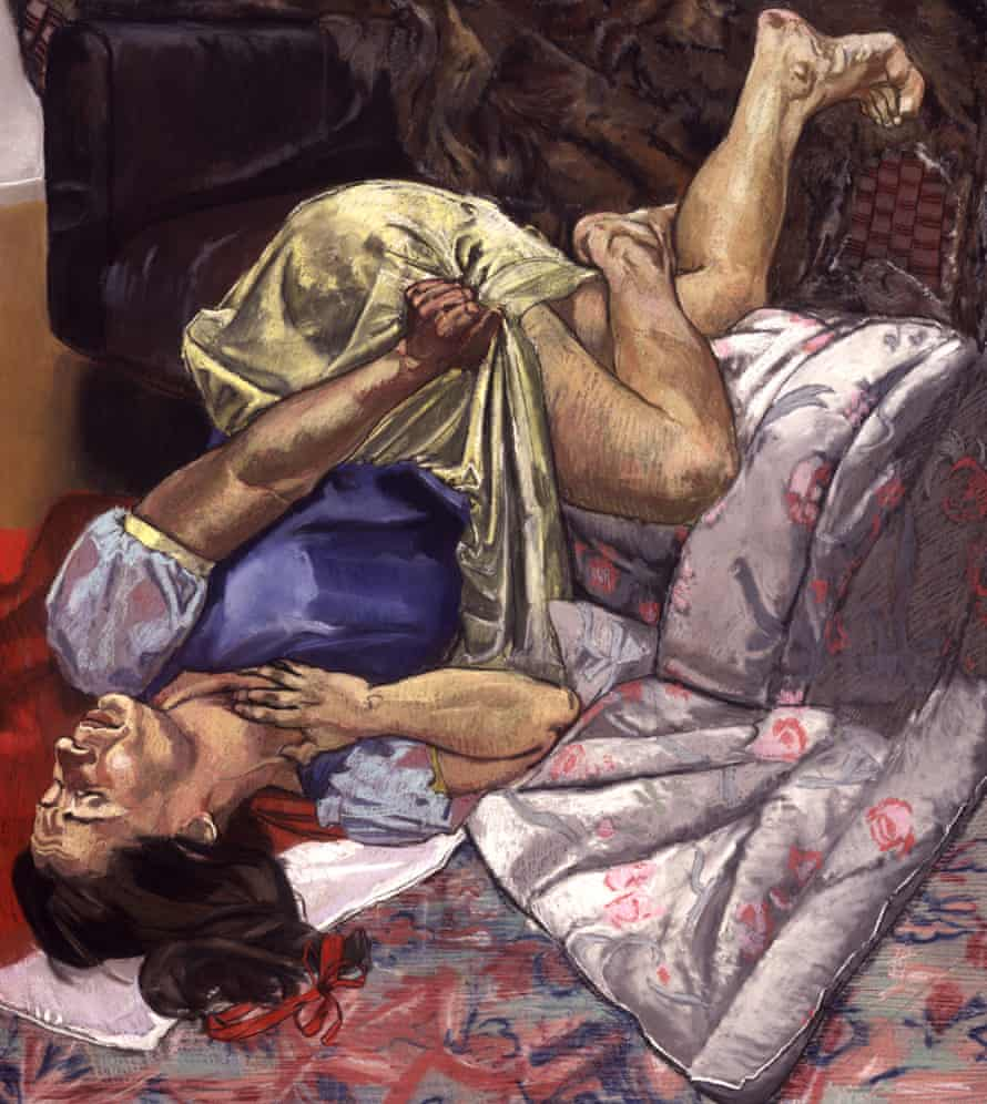 Swallows the Poison Apple, a painting by Paula Rego, 1995