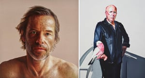Anne Middleton's portrait of Guy Pearce and Julian Meagher's portrait of Richard Flanagan.