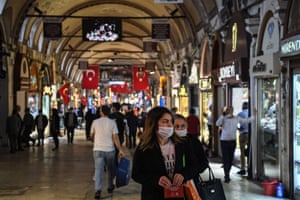 Istanbul's iconic Grand Bazaar is once again bustling.