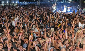 Music fans at a concert in New Zealand in January 2021.
